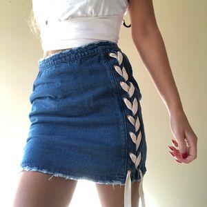 MISSGUIDED denim mini skirt
